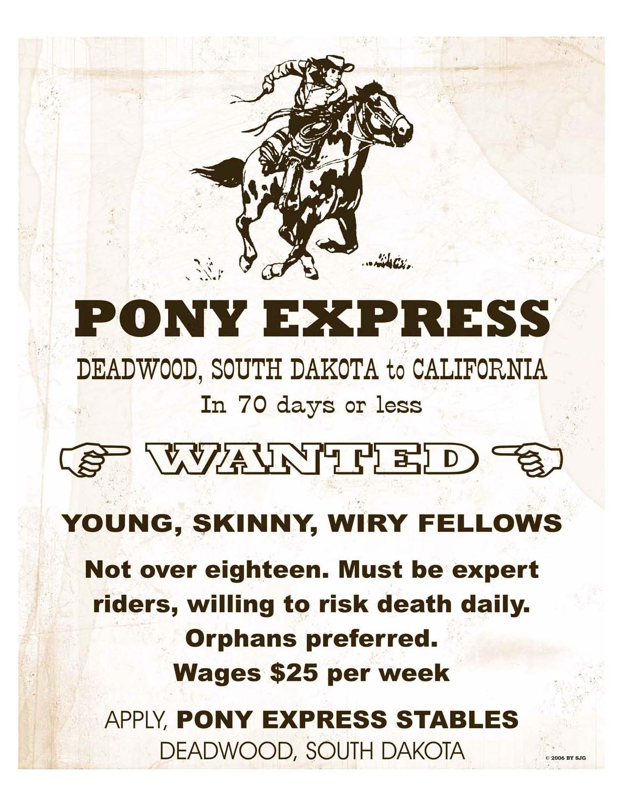 Send A Letter With The Pony Express